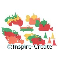 Foamies Construction and Tractor Stickers (60)*