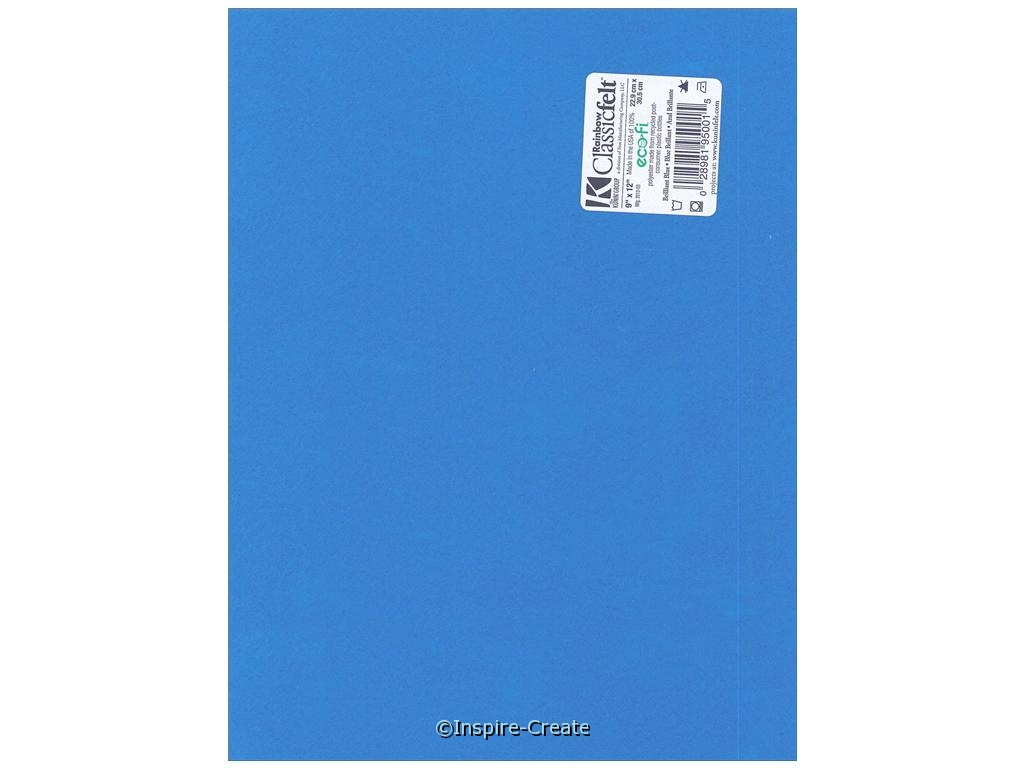 Brilliant Blue Soft Felt Sheets 9x12