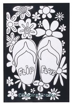 Flip Flops Velvet Poster Set*