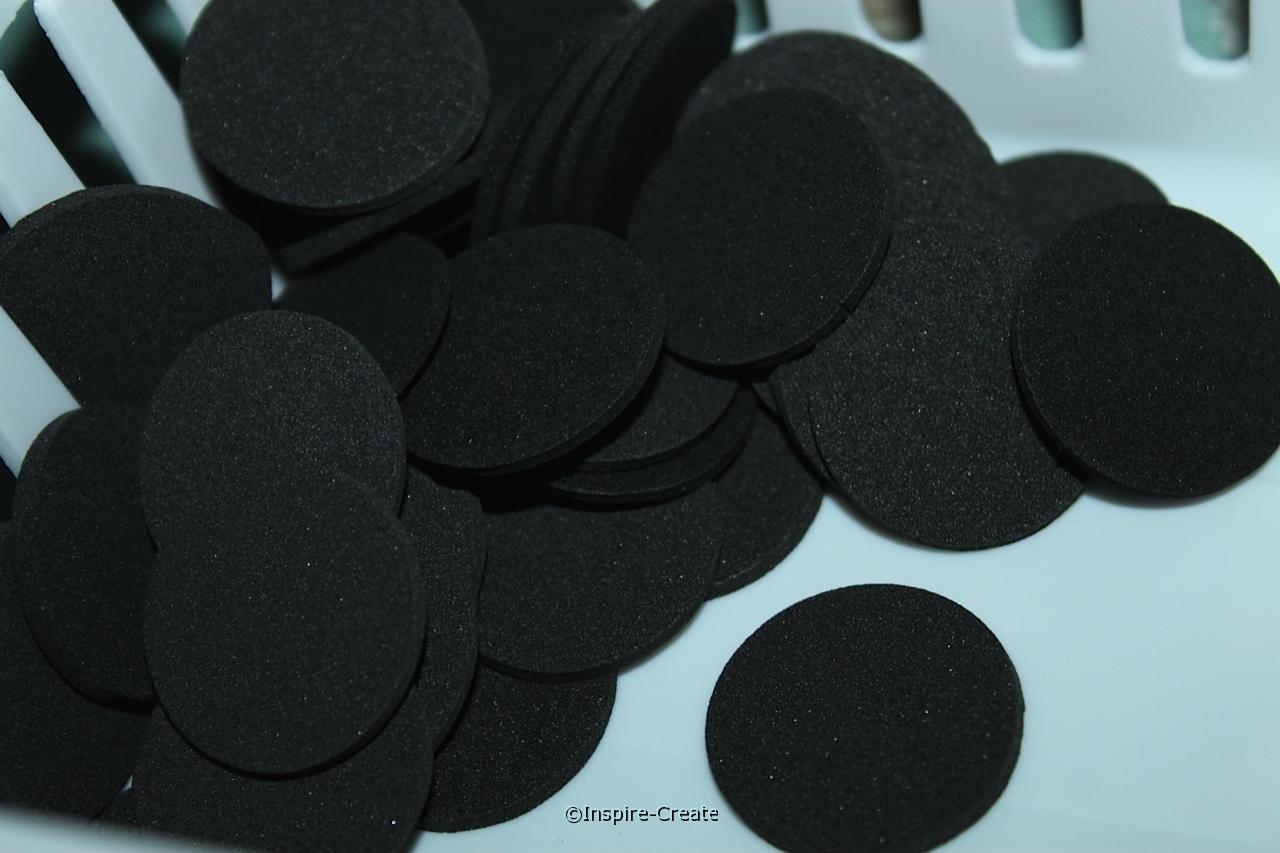 "1"" Black Foam Circle SHAPES (Bulk 360) ~All Sales Final"