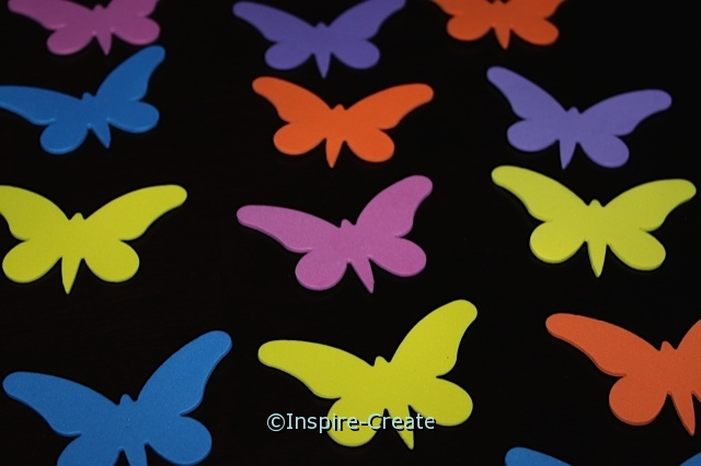 Medium Butterfly Foam SHAPES (Bulk 120)*