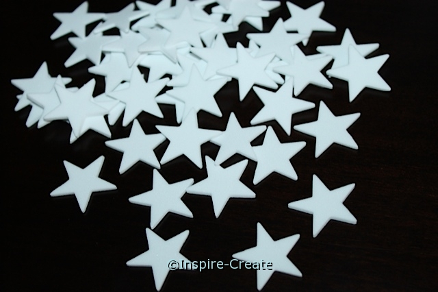 Small White Star Foam SHAPES (Bulk 216)*