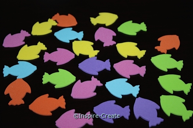 Small Tropical Fish Foam SHAPES (Bulk 216) ~All Sales Final