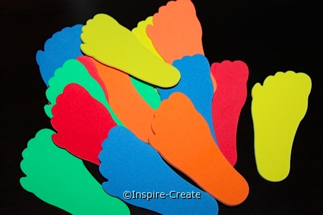 Large Footprint Foam SHAPES Pack (Bulk 90) ~All Sales Final