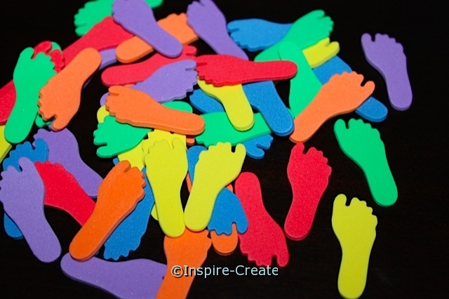 Tiny Footprint Foam SHAPES (Bulk 216) ~All Sales Final