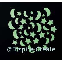 Foamies GID Mini Moons/Stars (40)*