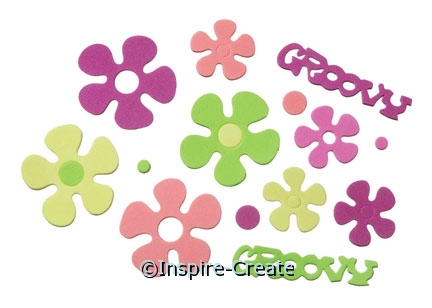 Foamies Groovy Flower Stickers (84)*