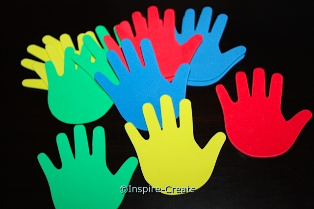 Foam Multi Hand SHAPES (Bulk 96) ~All Sales Final