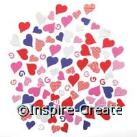 Foamies Hearts & Swirls Stickers (96)*