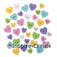 Foamies Candy Heart Stickers (80)*