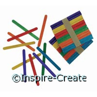 Bright Colored Wood Craft Sticks (120)*