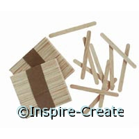 Natural Wood Craft Sticks (150)*