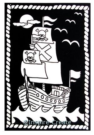 Pirate Ship Velvet Poster (6x9)*