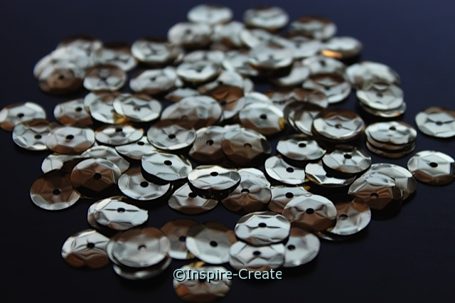 10mm Gold Sequins (120 pcs) w/Tin*