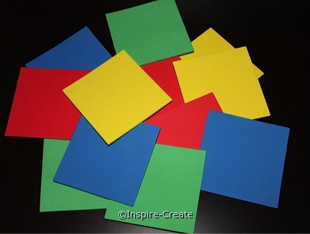 "3"" Square Foam SHAPES (Bulk 80) ~All Sales Final"