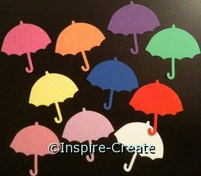 Assorted Umbrella Foam SHAPES (Bulk 72) ~All Sales Final