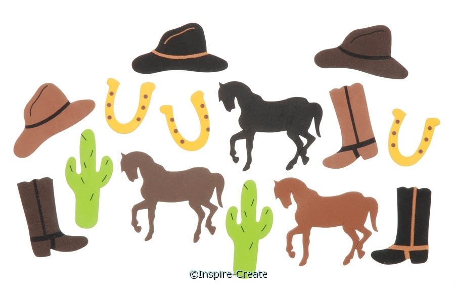 Foamies Western Stickers (54)*