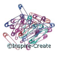 Safety Pin #2 Asst. Colors (50)*