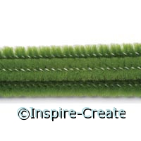 Moss Green Chenille Stems (100)*