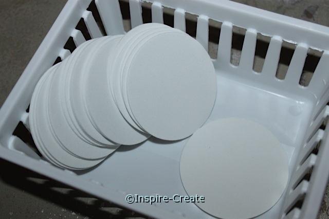 """White 2 1/2"""" Foam Circle SHAPES (144) ~All Sales Final"""