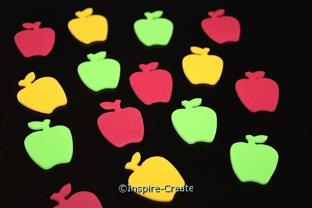 Small Apple Foam SHAPES (Bulk 216) ~All Sales Final