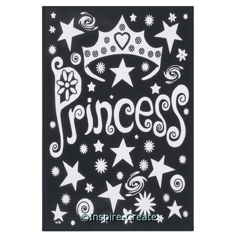 Princess Crown Velvet Poster*
