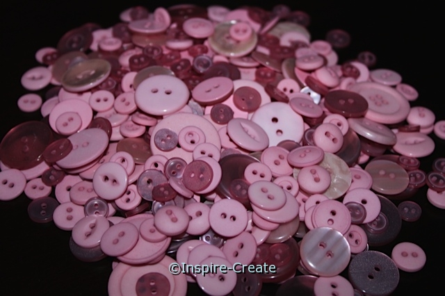 Bubble Gum Pink Craft Buttons (1/2 lb)*