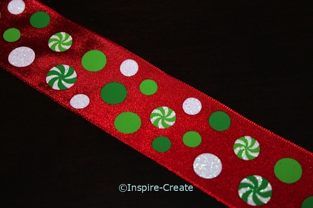 Christmas Candy on Red Wire Ribbon (10 feet)*