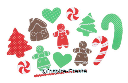Foamies Christmas Gingerbread Stickers (39)*