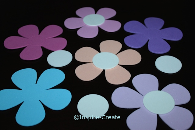Foam Petal Flowers & White Dot Shapes (Bulk 96)*