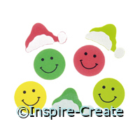 Foamies Smiley Santa Stickers (44)*