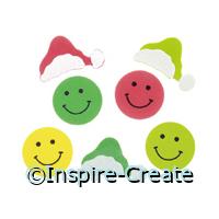 Foamies Smiley Santa Stickers (44)*