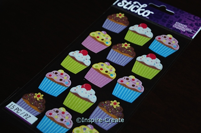 Bright Cupcakes Sticker Sheet by EK (15)*