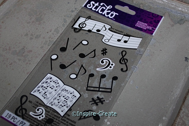 Musical Notes Sticker Sheet by EK (19)*