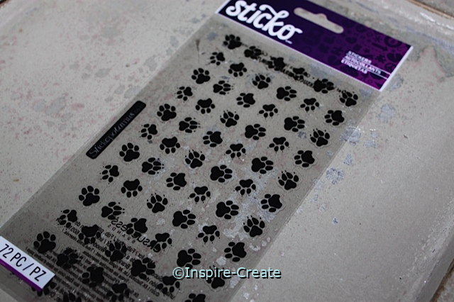 Black Paw Print Sticker Sheet by EK (72)*