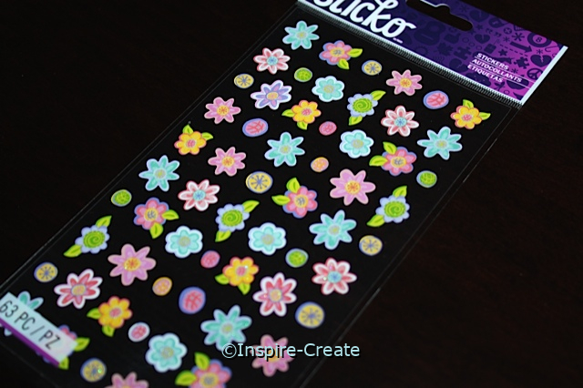 Teeny Tiny Flower Sticker Sheet by EK (63)*