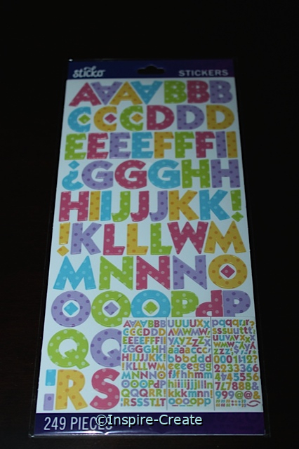 Bright ABC's Polka Dot Stickers by EK (249)*