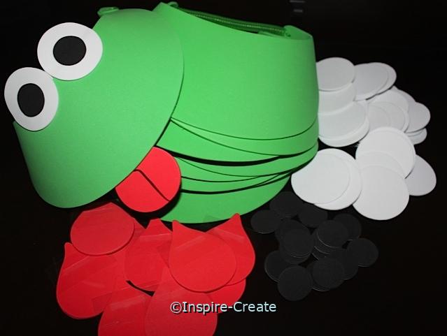 Frog Visor Kit w/ Green Visors (Makes 8)*