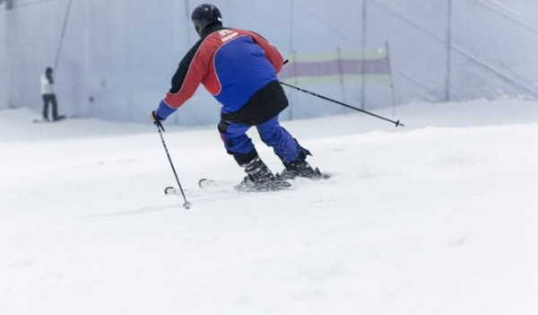 A skiier in Ski Dubai, image from their Facebook page.