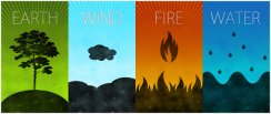 earth, water, wind and fire