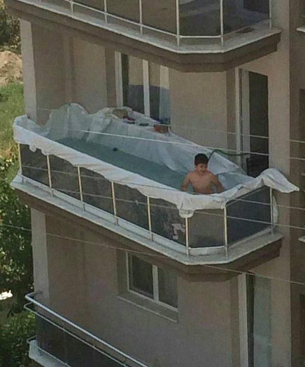3. A Makeshift Pool