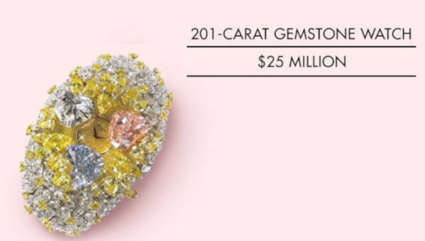 3. 201-Carat Gemstone Watch