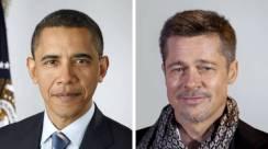 8. Brad Pitt And Barack Obama