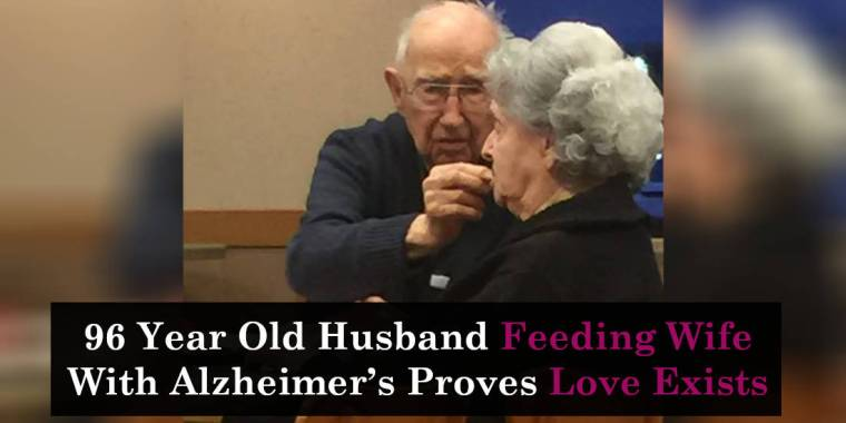 96 Year Old Husband Feeding Wife With Alzheimer's Proves Love Exists