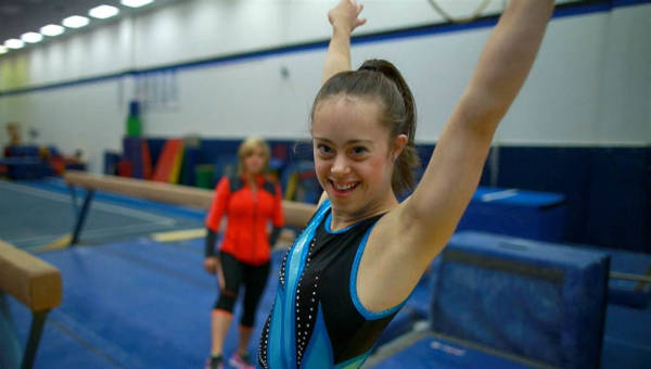 A champion gymnast with Down Syndrome