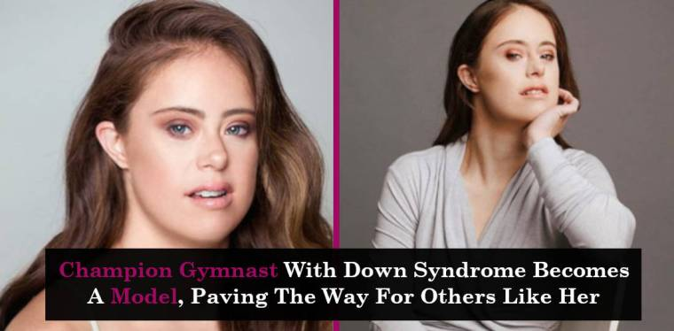 Champion Gymnast With Down Syndrome Becomes A Model, Paving The Way For Others Like Her