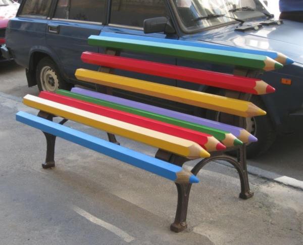 10. Pencil bench