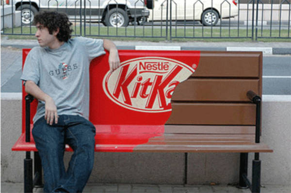 16. Kit Kat bench in London, United Kingdom