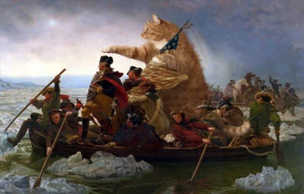 "19. ""Washington Crossing the Delaware"" by Emanuel Leutze"