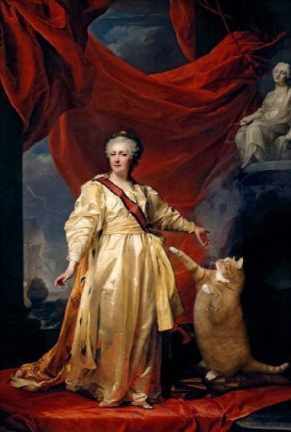 """2. """"Portrait of Catherine II"""" by Dmitry Levitsky"""